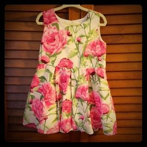 Toddler pink flower dress